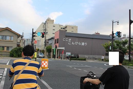 20150714新潟旅行:レンタサイクル こんぴら通り
