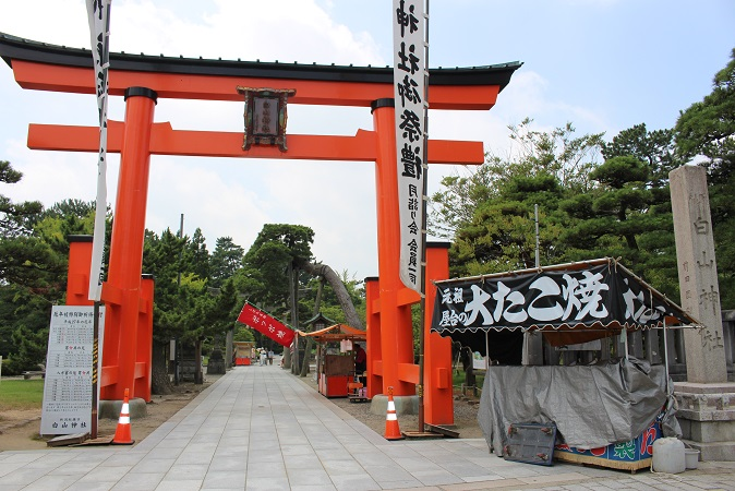 20150714新潟旅行:白山神社 鳥居