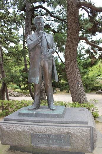 20150714新潟旅行:白山神社 楠木正隆像