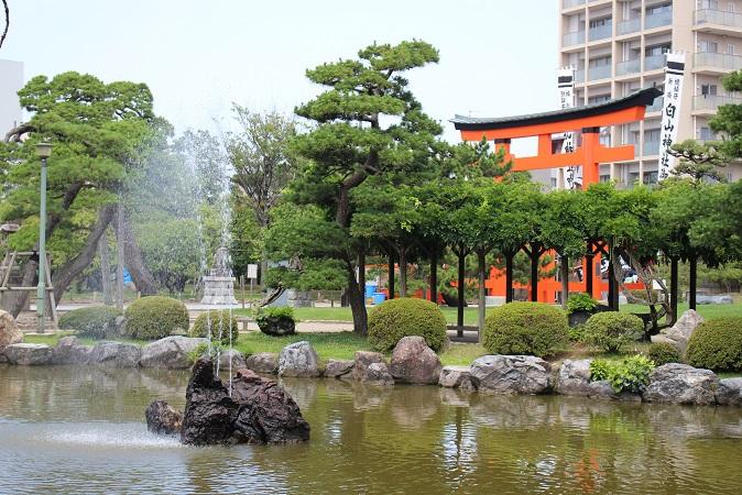 20150714新潟旅行:白山神社 噴水