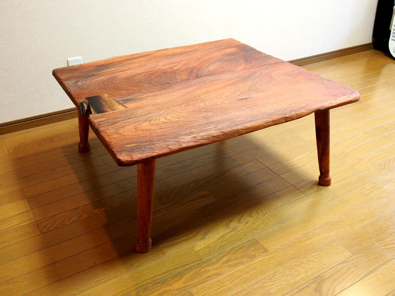 ケヤキ座卓【那須高原 じざい工房 小林康文の素材を活かす家具づくり】