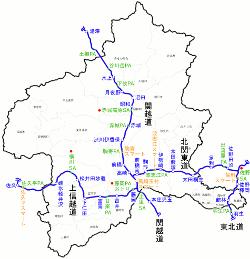 群馬県高速道路地図