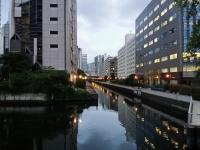 芝浦の運河の景色