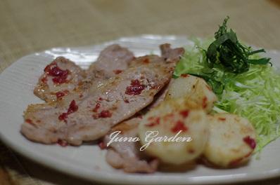 豚肉と長芋の梅肉ソテー