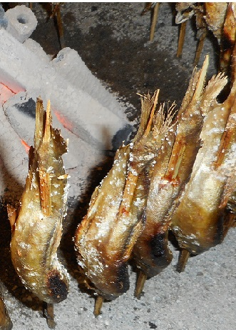 アユの塩焼き20150722②熊谷うちわ祭