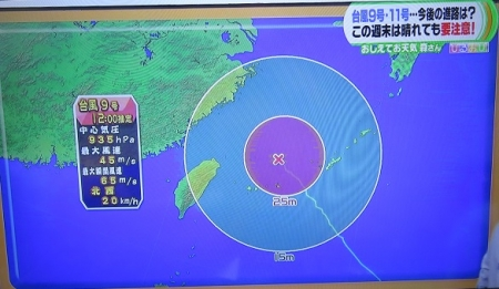 2015年7月9日 台風