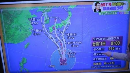 2015年7月13日 台風