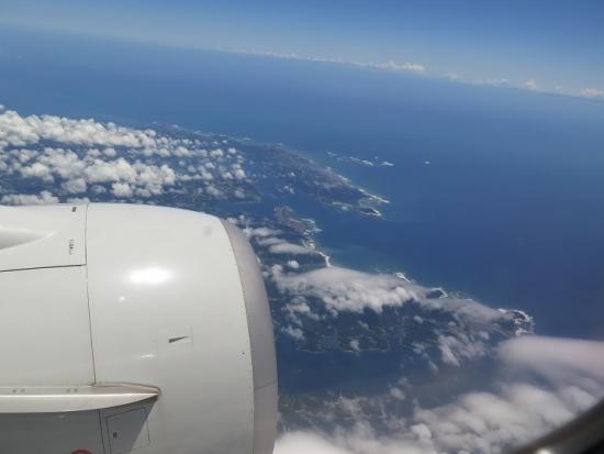 中部国際空港セントレアから離陸直後