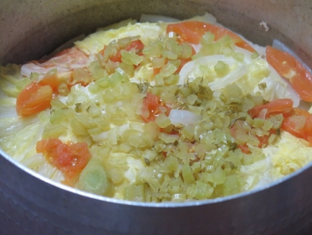 豚肉と大根と白菜の重ね蒸し