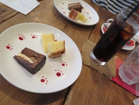 バナナチョコケーキとアマンディーヌ
