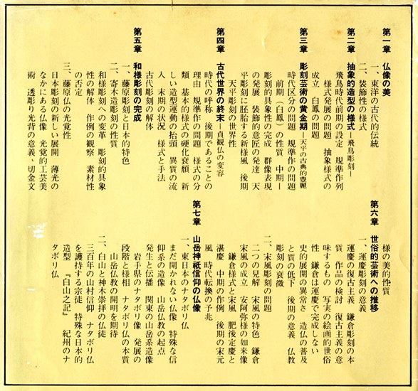 「日本彫刻史論~様式の史的展開~」目次