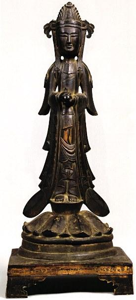 法隆寺献納宝物165号・辛亥銘観音立像(651年)