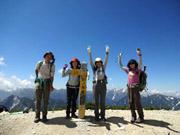 針ノ木岳登頂