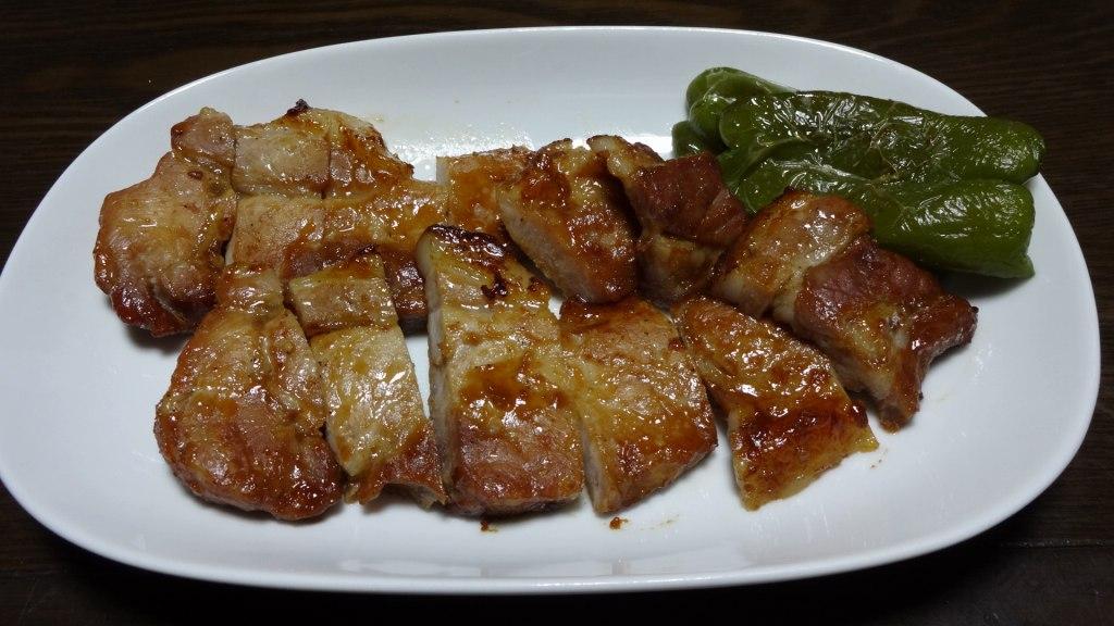 豚厚切り肉のメープル味噌漬