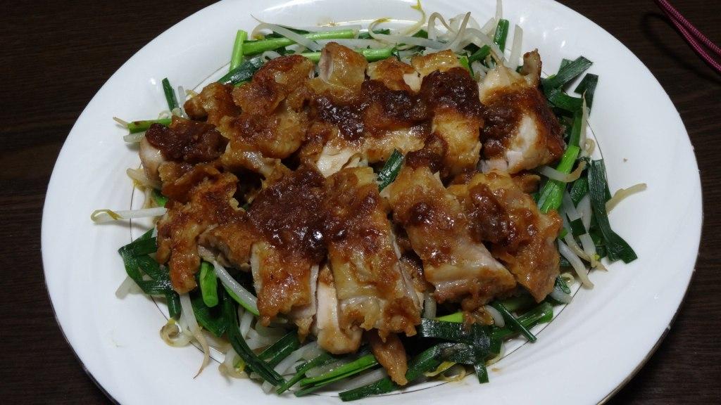 鶏もも肉の味噌照り焼き
