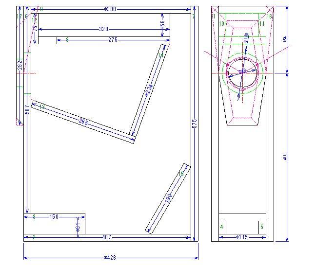 200円ユニットバックロードバスレフ本木箱設計完了