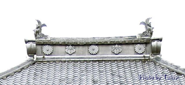 法堂の棟瓦