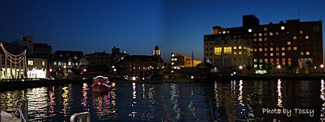 門司港レトロ夜景 ボート
