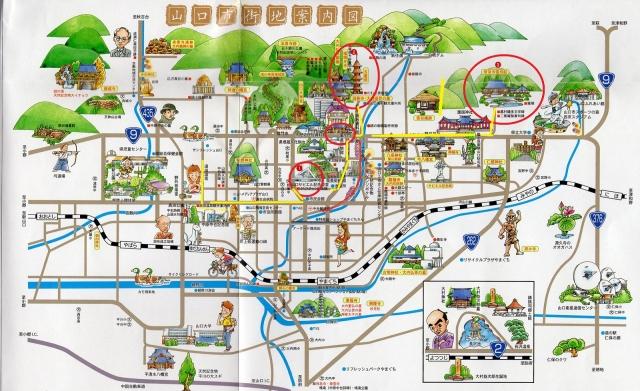山口観光地図