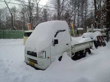軽トラック積雪