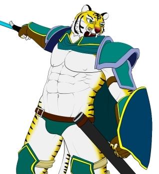 虎剣士ざっくり色塗り 縞