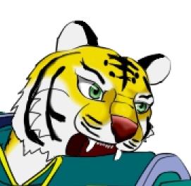 虎剣士ざっくり色塗り 目