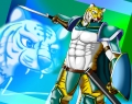 緑の鎧の虎獣人完成