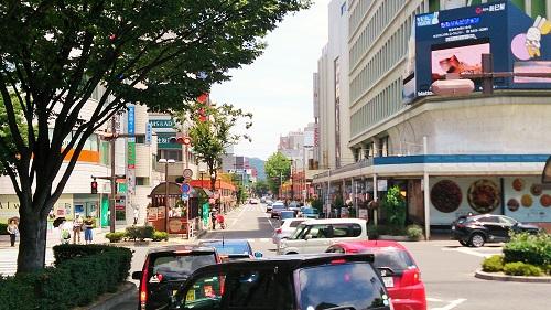 福島の駅前通り