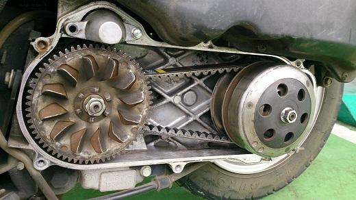 ドライブベルト修理