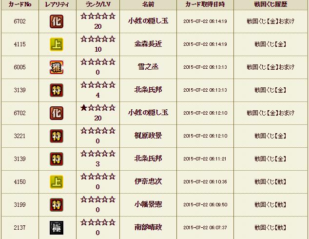 くじ履歴13