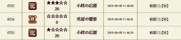 54鯖祭りくじ履歴1