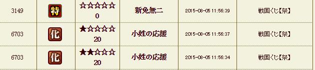 56鯖祭りくじ履歴1