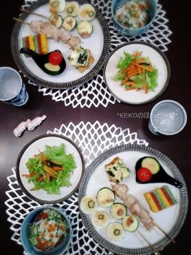 ちゅるちゅる素麺とおかず色々晩ごはん4