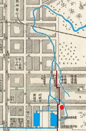 明治34年地図 フシコサッポロ川の記憶