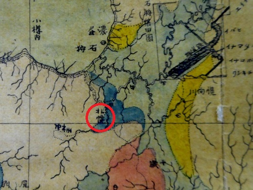 日本蝦夷地質要略之圖 札幌周辺拡大