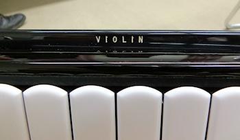 マスタースイッチがヴァイオリン