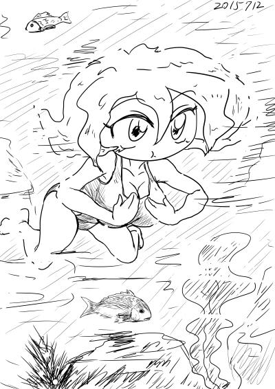 2015年7月12日ねこむさん平泳ぎ
