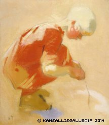 Schjerfbeck Girl on the Sand 1912