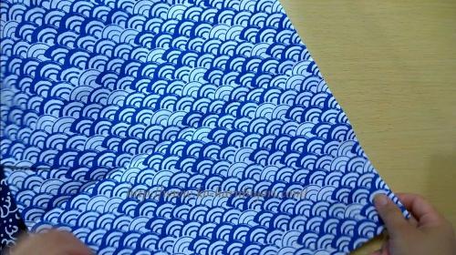 20150730千鳥柄と青海波柄で作る四角衣●青海柄