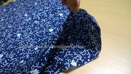 日本手拭いで作る四角衣6
