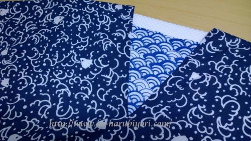 日本手拭いで作る四角衣10