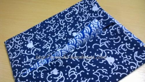 日本手拭いで作る四角衣11