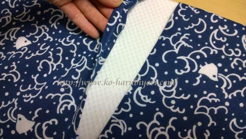 日本手拭いで作る四角衣2