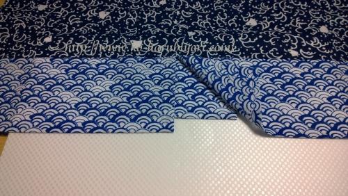 日本手拭いで作る四角衣4