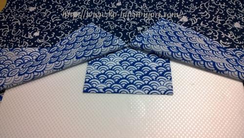 日本手拭いで作る四角衣5
