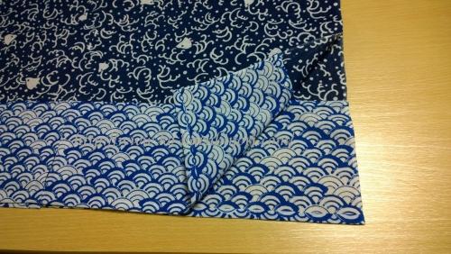 日本手拭いで作る四角衣7