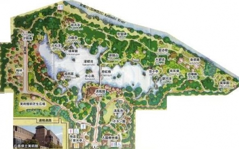 縮景園地図