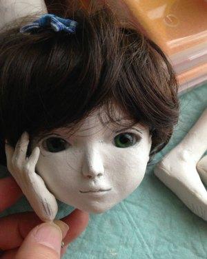 20150615 球体関節人形 顔とウィッグ