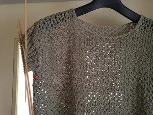 20150702 夏が来た!と錯覚して編み始めたモノの袖