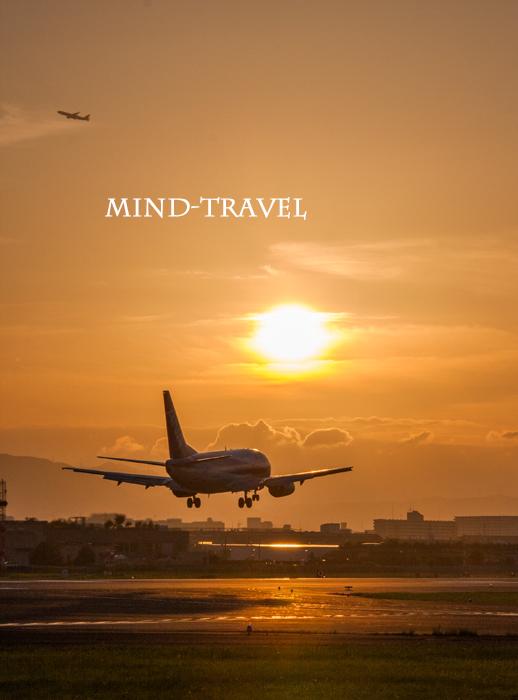 大阪国際空港 夕陽